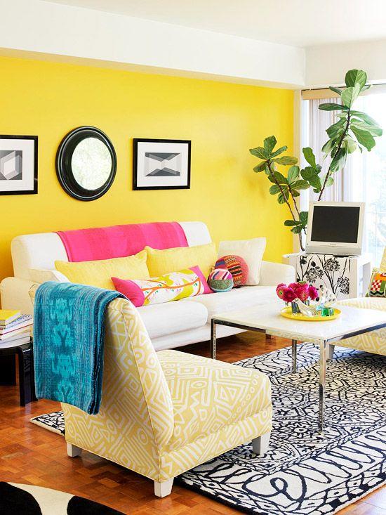 amarelo sala de estar