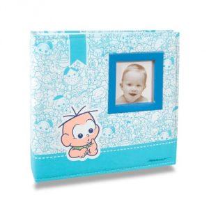 Álbum de Fotos Bebê em Tecido Cebolinha