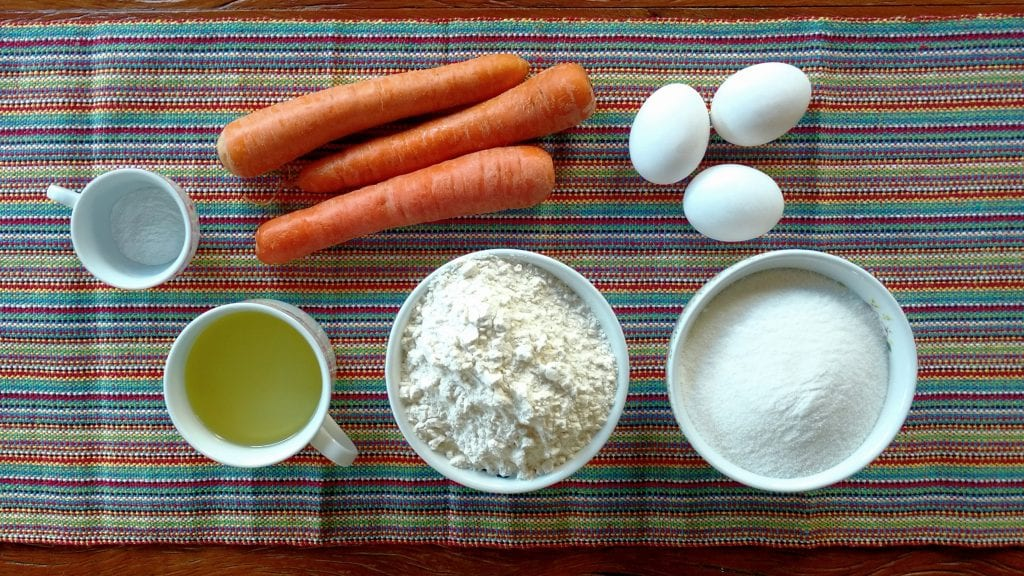 ingredientes receita bolo de cenoura
