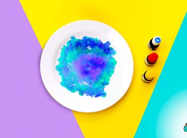 leite psicodélico experiência com as cores