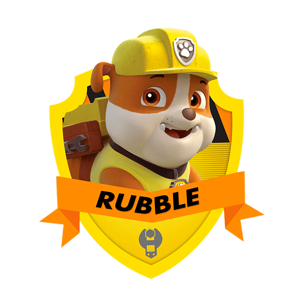 rubble personagem patrulha canina