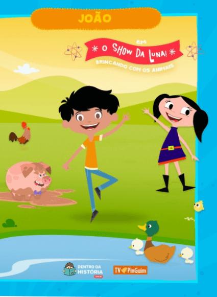 O Show da Luna! Brincando com os Animais - Livro Infantil Personalizado