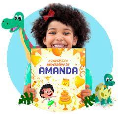 livro personalizado dinossauro