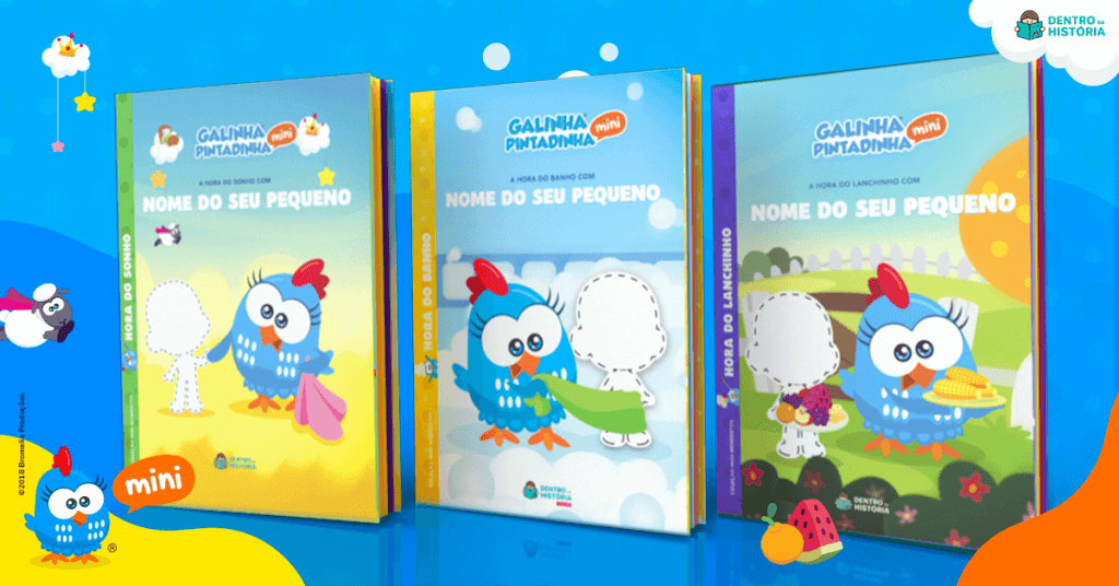 livros personalizados galinha pintadinha