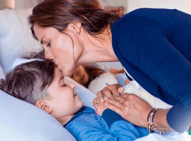 rotina diária mãe e filho hora de dormir