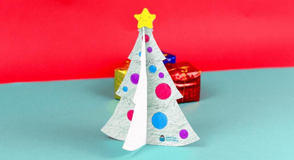 arvore de natal de papel