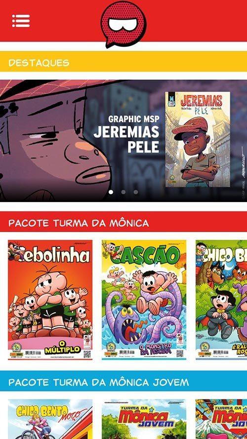 histórias em quadrinhos turma da monica aplicativo