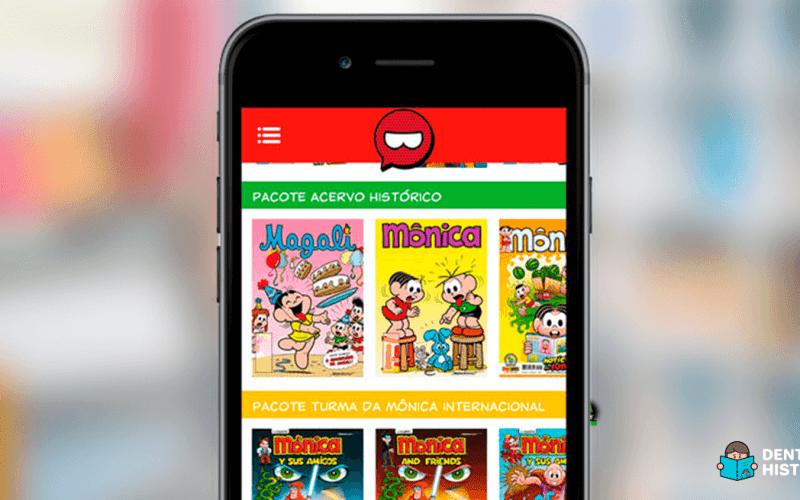histórias em quadrinhos aplicativo turma da mônica