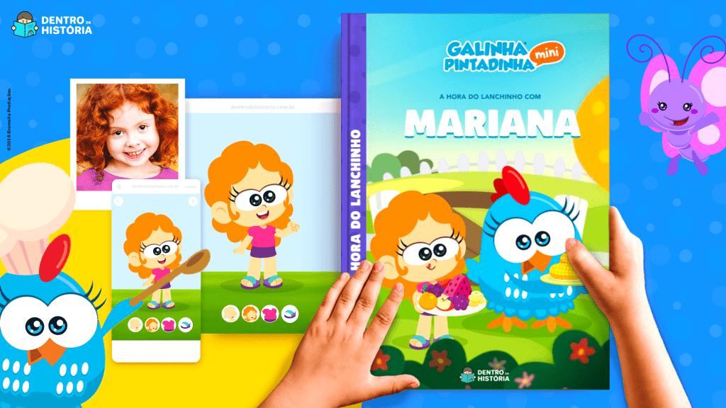 Livro Personalizado da Galinha Pintadinha