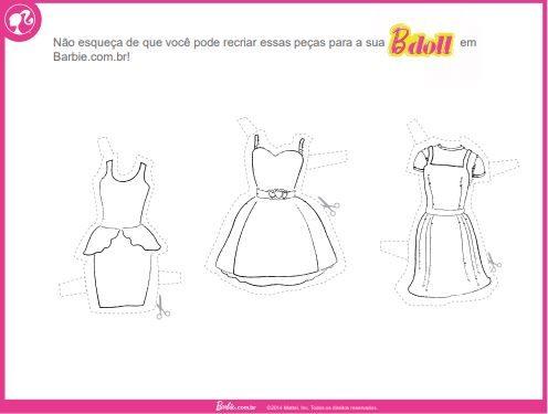 Boneca De Papel Da Barbie Para Colorir Recortar E Brincar