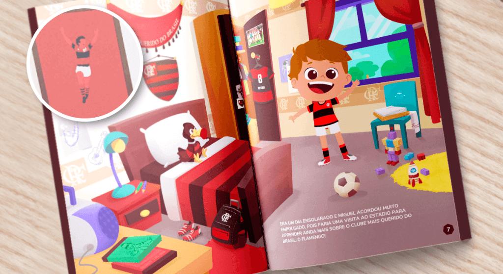 Poster do Zico no livro personalizado do Flamengo