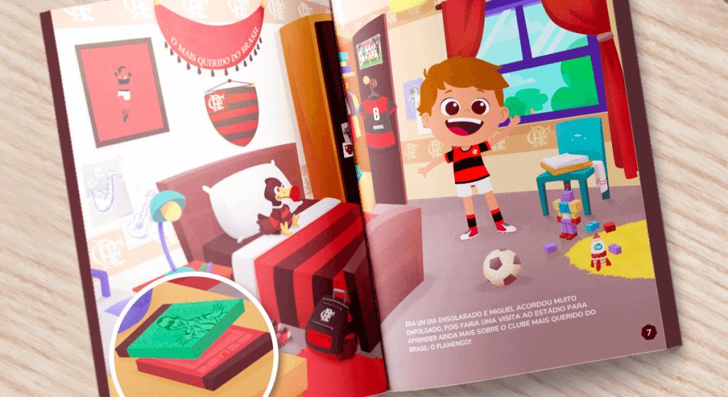 Jorge Ben Jor no livro personalizado do Flamengo