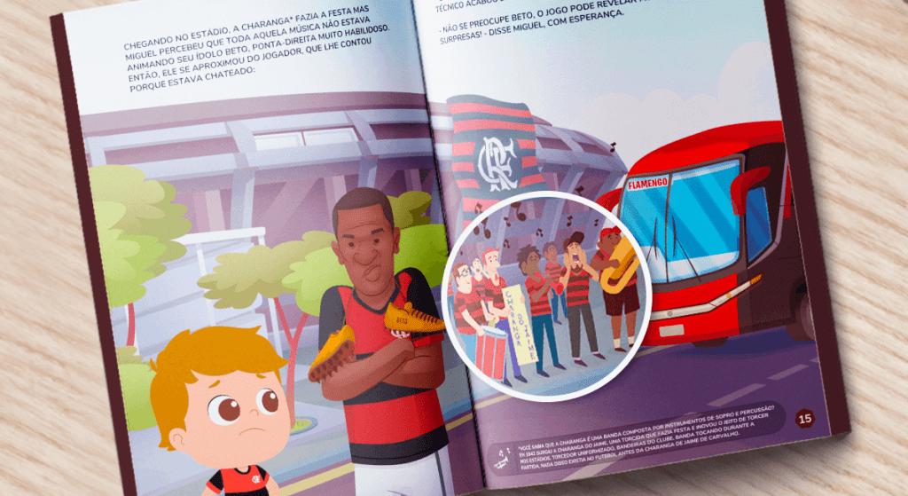 Charanga do Jaime no livro personalizado do Flamengo