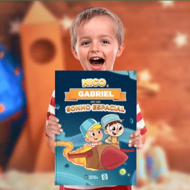 livro personalizado sobre educação financeira para crianças