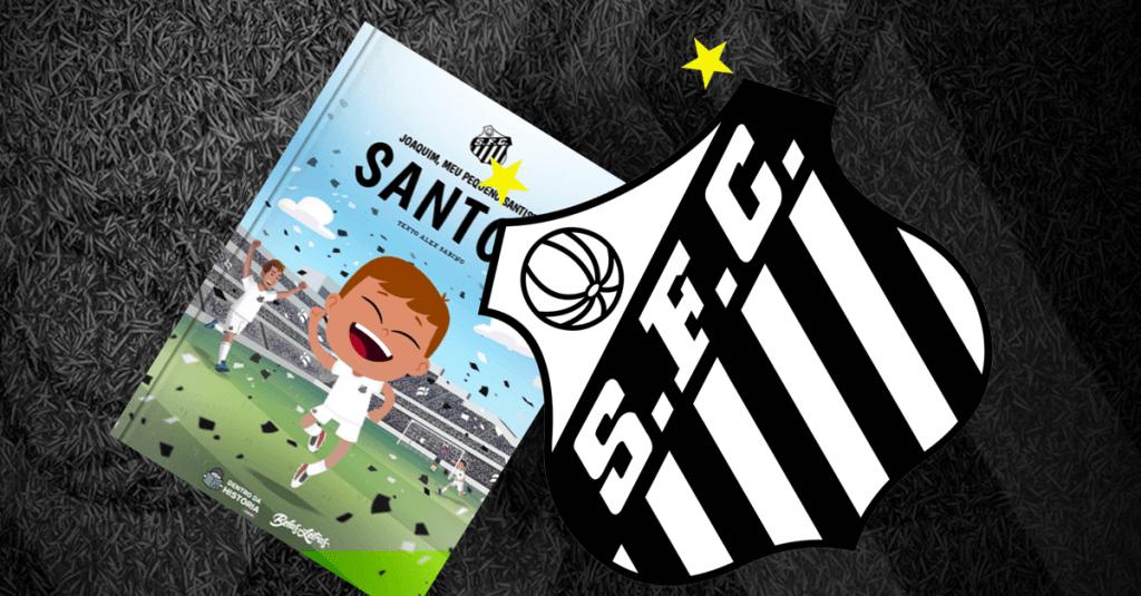 Livro personalizado do Santos