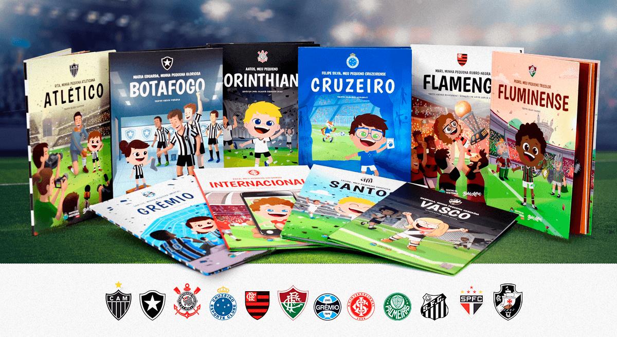 Livros de futebol personalizados