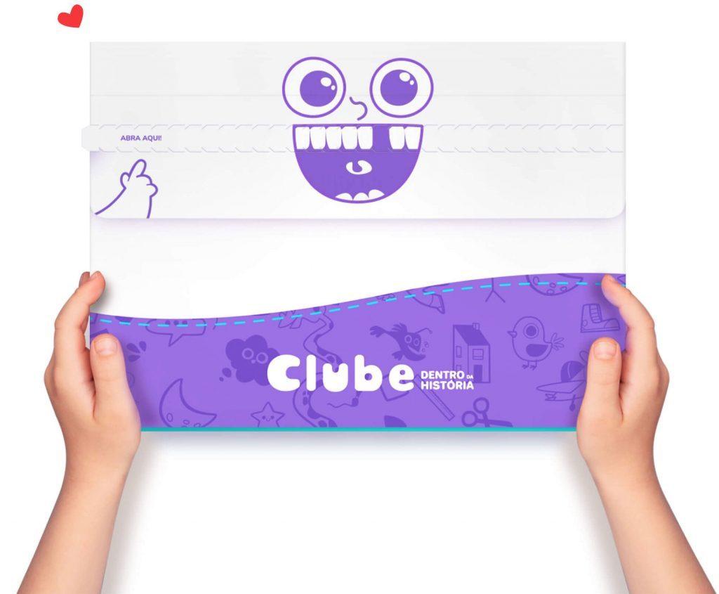 Caixa do Kit do Clube Dentro da História