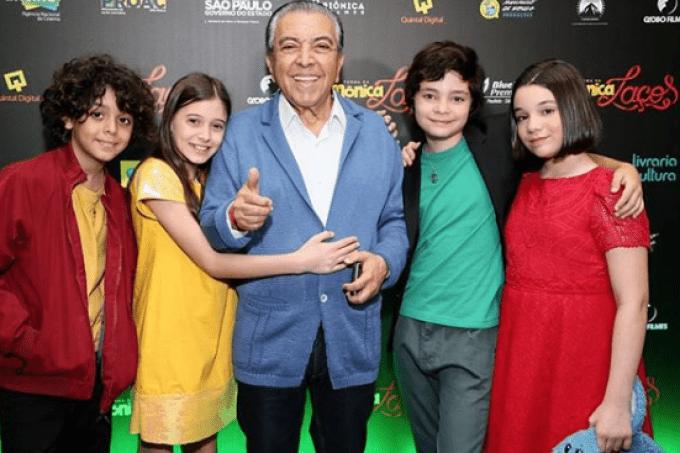 Mauricio de Sousa e atores de Turma da Mônica: Laços