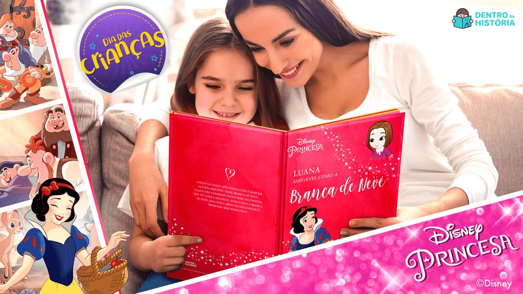 Dia das Crianças - Branca de Neve - Livro Personalizado