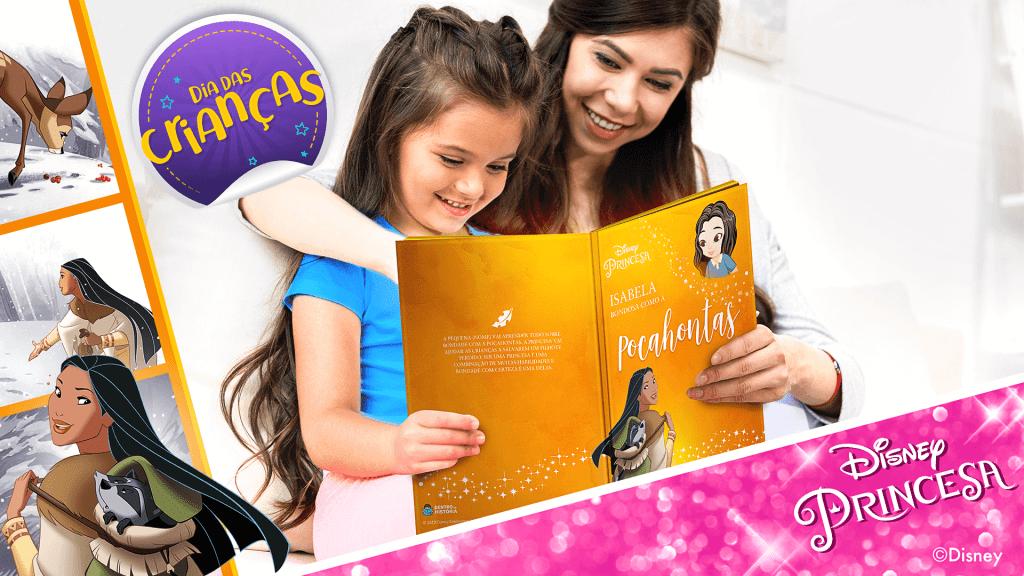 Livro Personalizado da Pocahontas