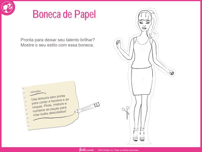 Boneca de Papel da Barbie