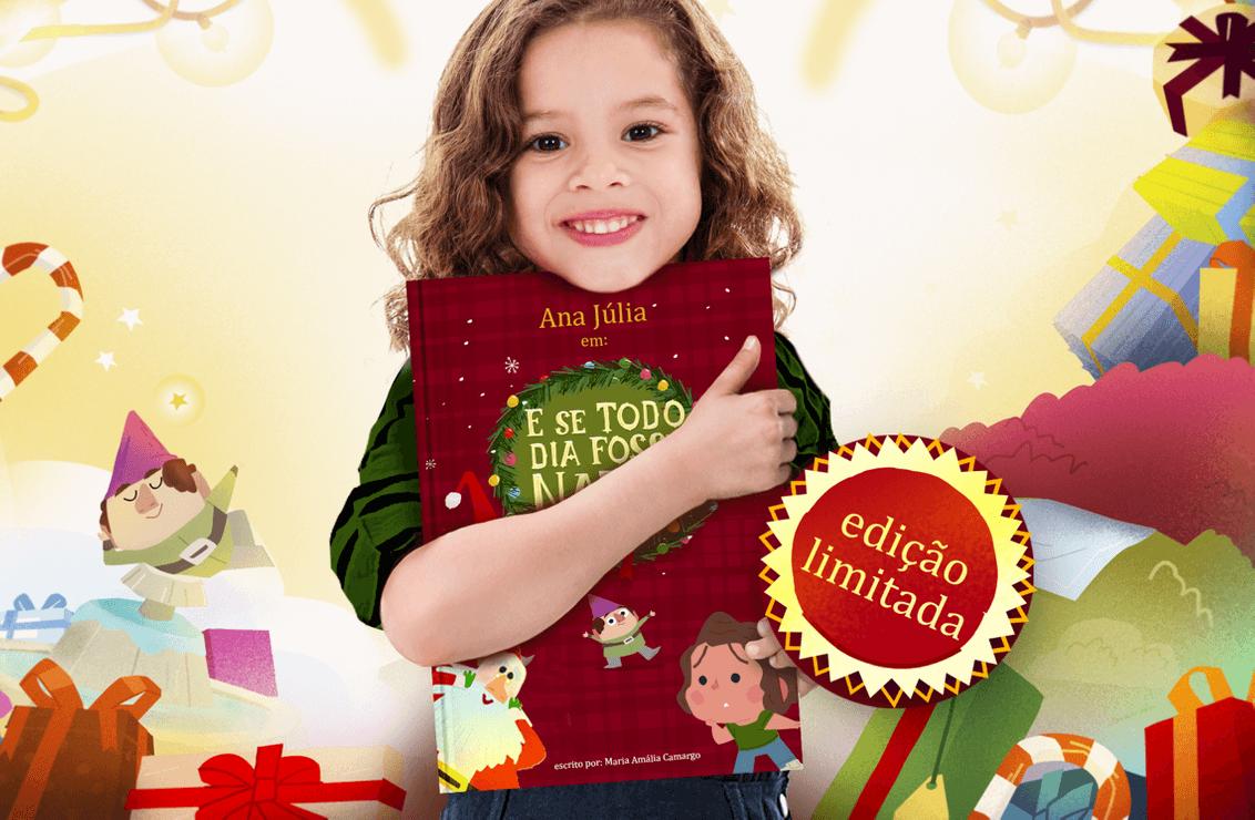 Livro personalizado de Natal