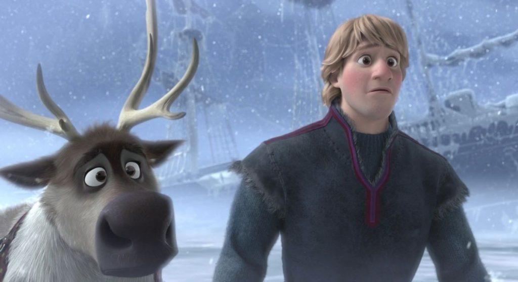 Kristoff e Sven, personagens de Frozen