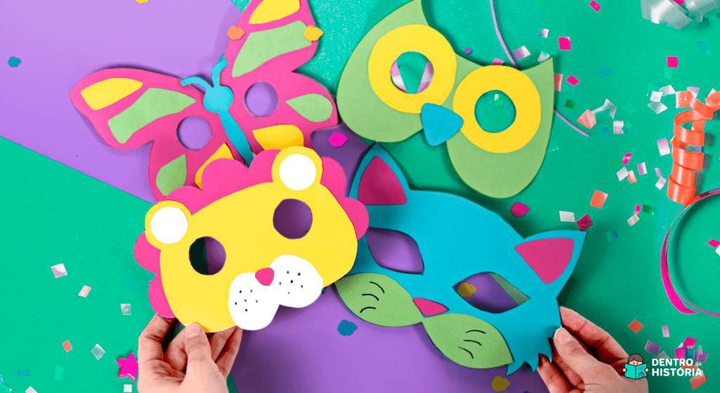 Máscara de carnaval de animais