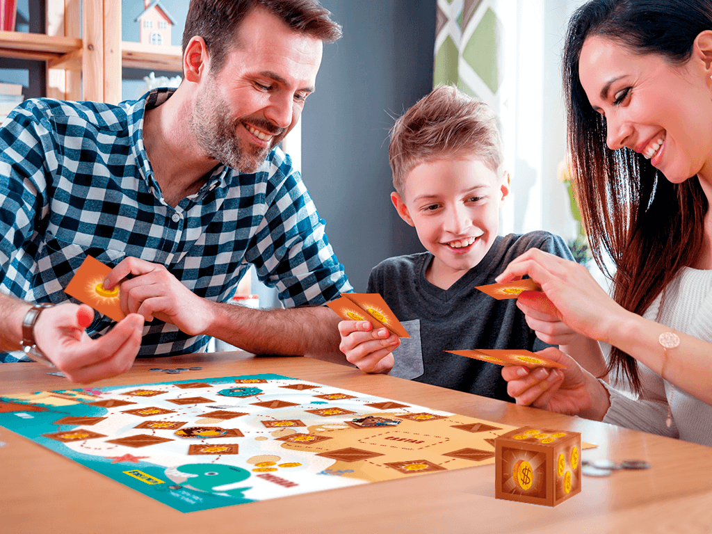 Jogo educativo para brincar em família