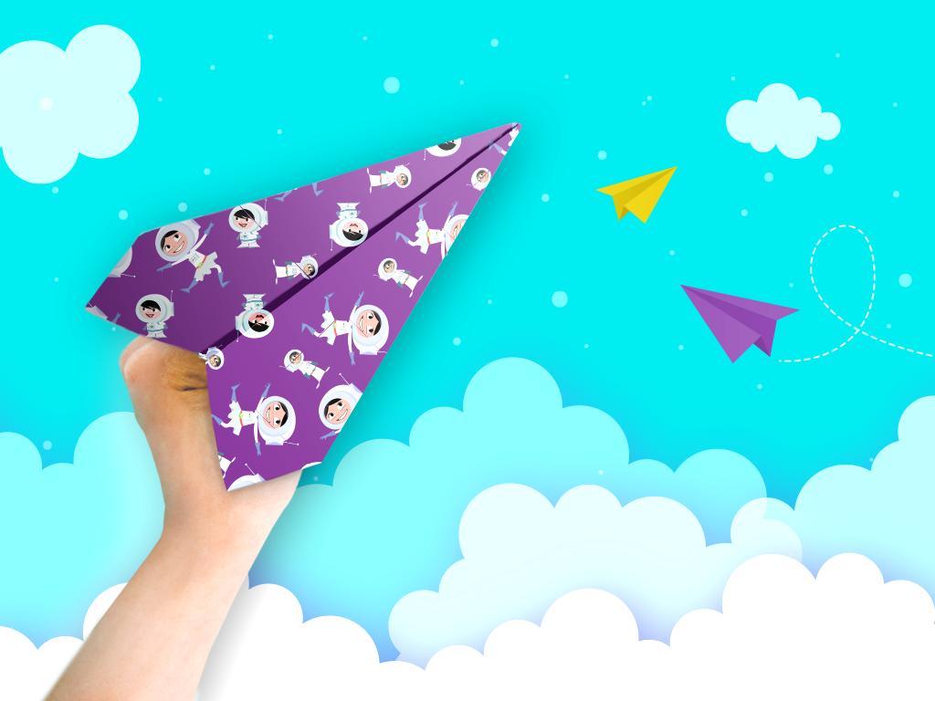 Avião de papel do Show da Luna