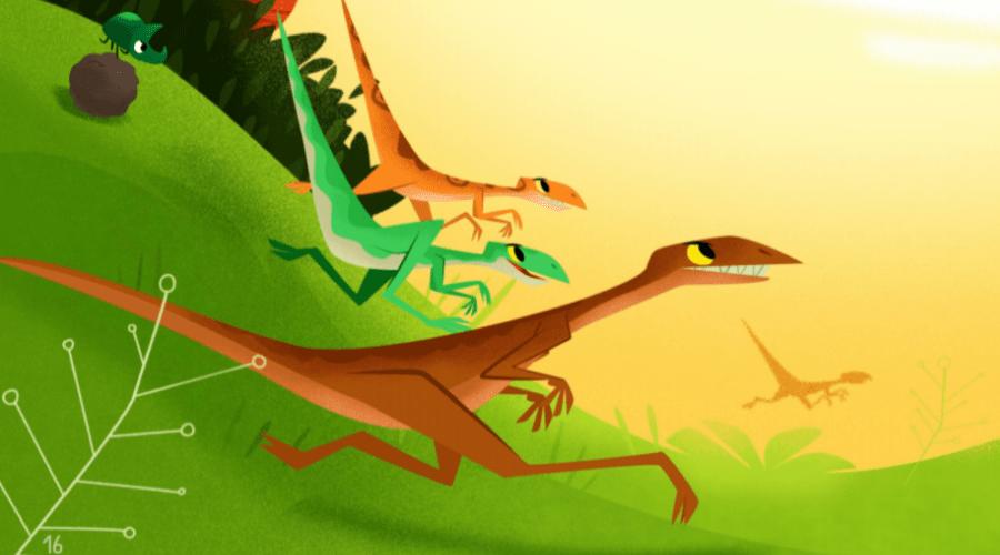 Dinossauros da espécie compsognato