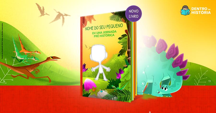 Livro Personalizado de Dinossauros