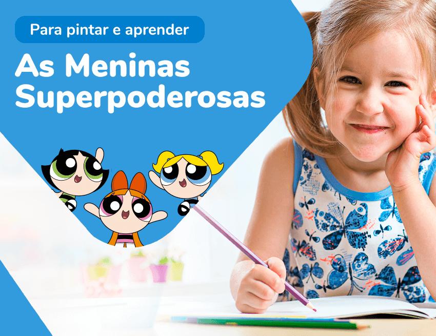 Desenho das Meninas Superpoderosas para colorir
