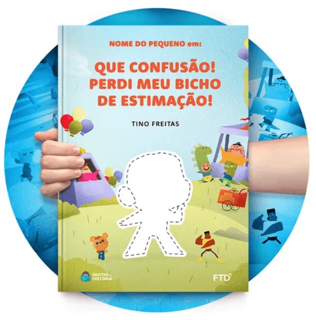 Livro personalizado de Tino Freitas - Dentro da História e FTD
