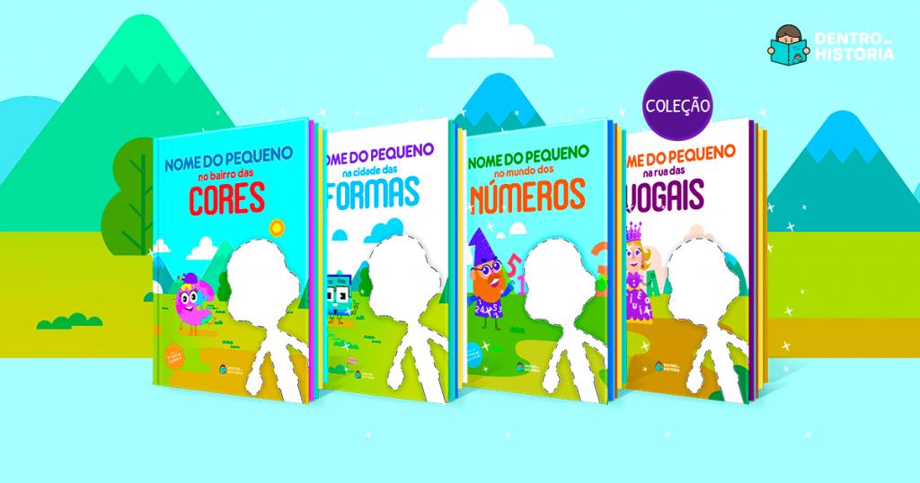Livros personalizados que estimulam aprendizados da infância