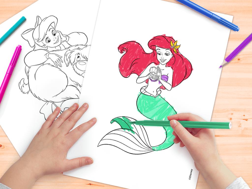 Ariel da Disney - Desenho para colorir