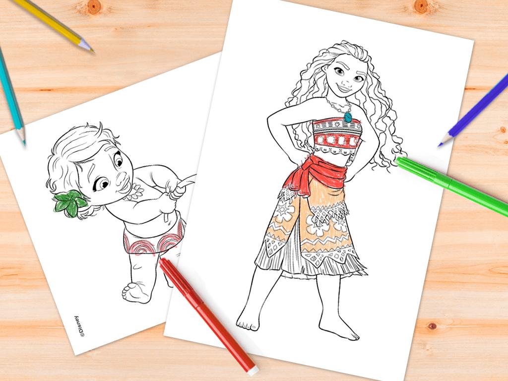 Desenhos da Moana para colorir