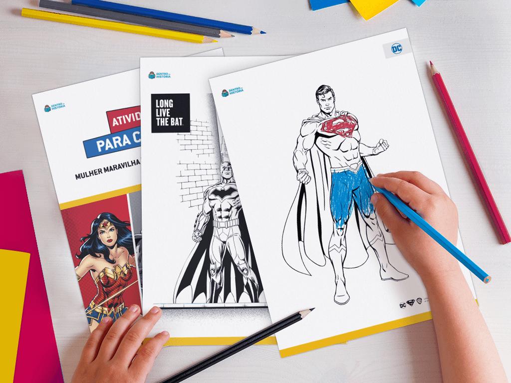 Desenhos para colorir Heróis Dc