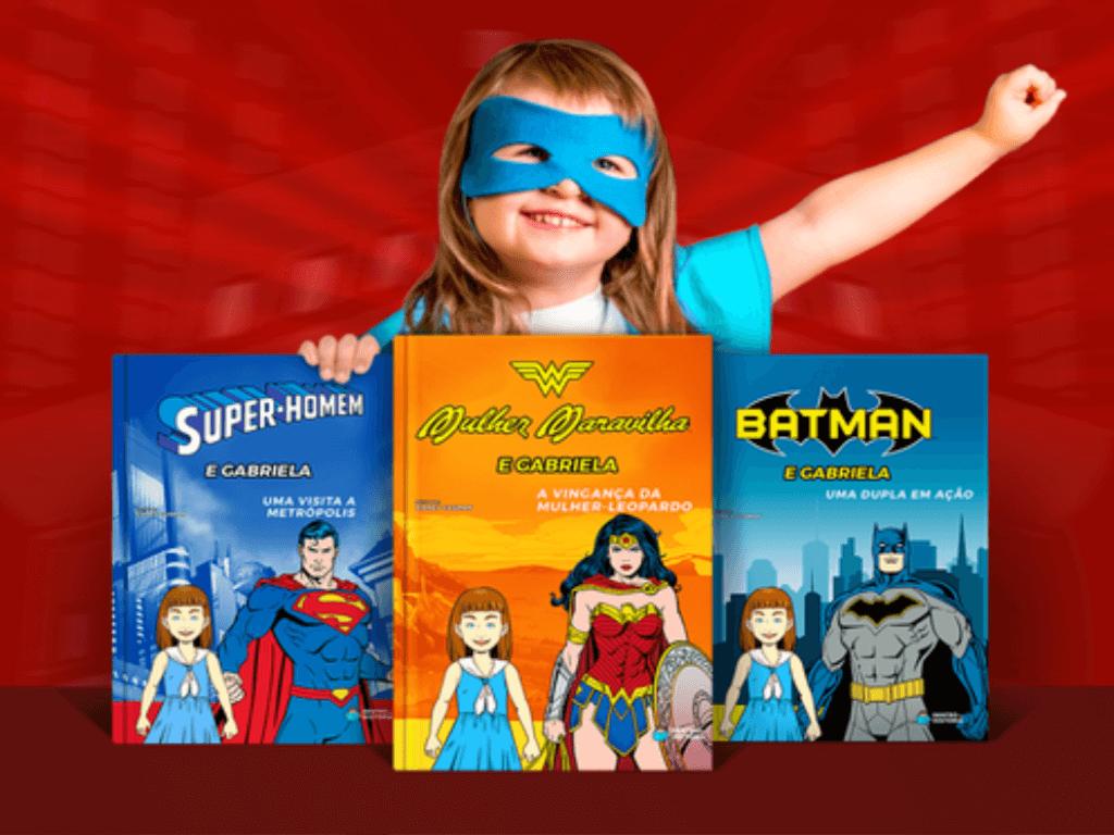 Coleção Livros Personalizados Heróis DC