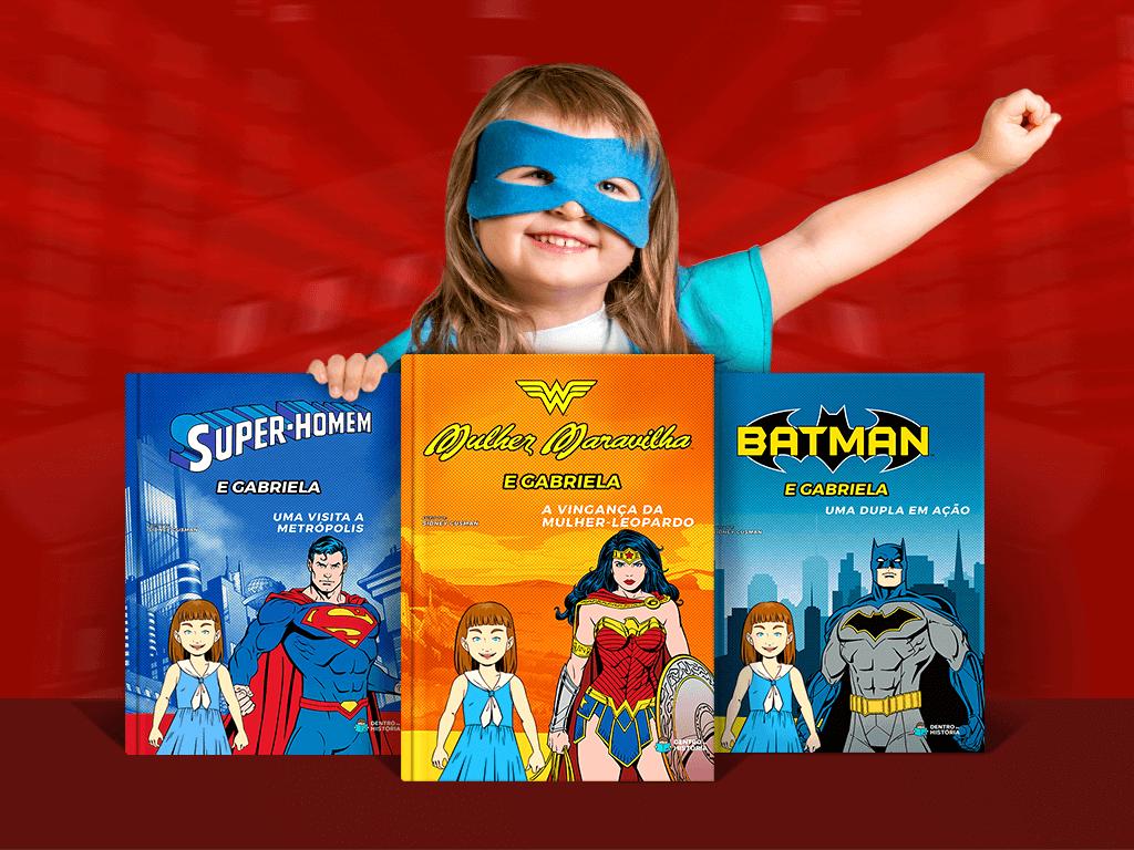 Livros Personalizados Super-Heróis
