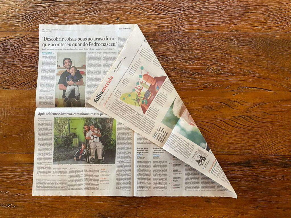 Pipa caseira com jornal