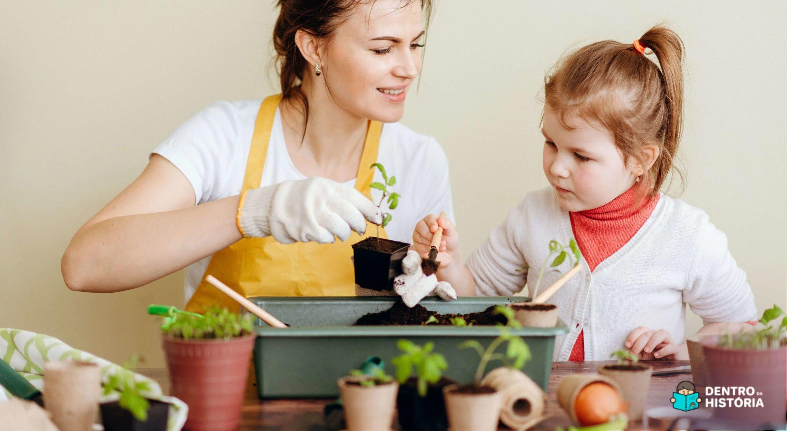Como fazer uma mini horta em casa com as crianças