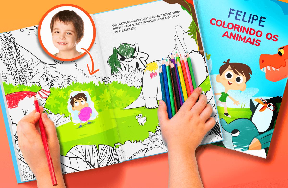 Livros de colorir personalizados para baixar