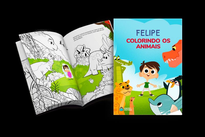 Livro personalizado - Colorindo os animais