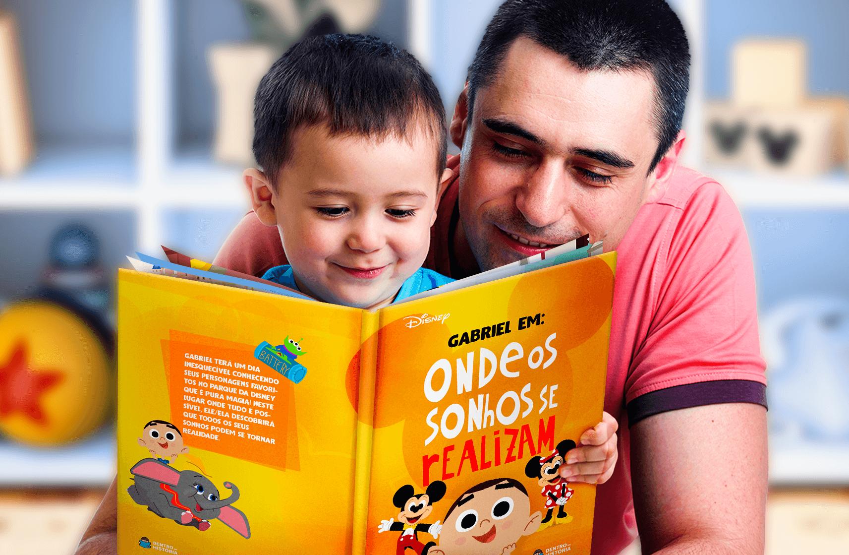 Novo livro personalizado coloca a criança junto com os personagens da Disney!