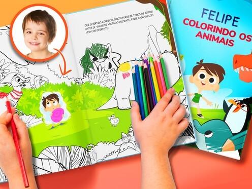 Livro de colorir dos animais