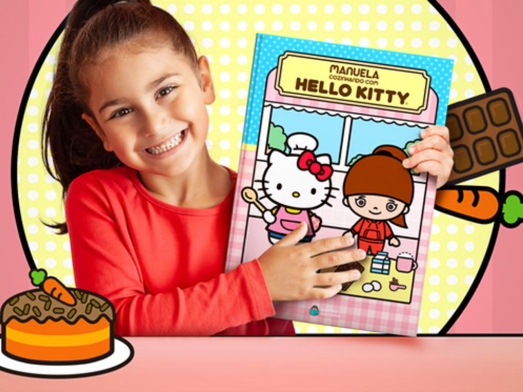 Livro personalizado da Hello Kitty