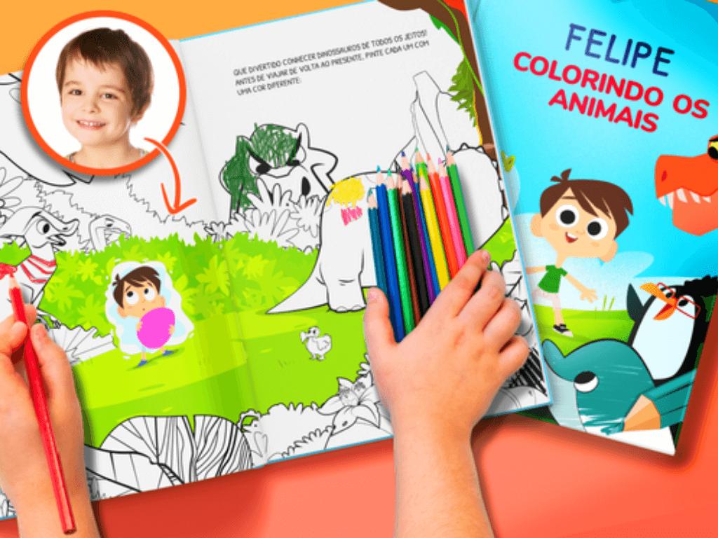 Livro de colorir personalizado