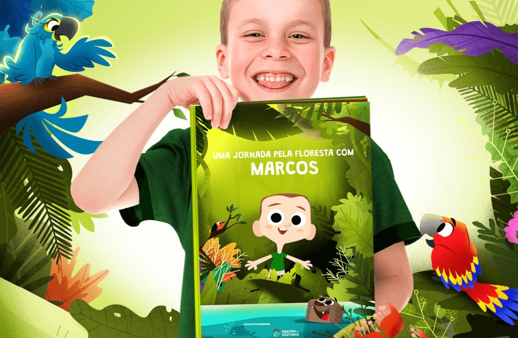 Livro infantil sobre animais do Brasil