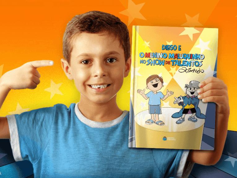 livro personalizado do menino maluquinho